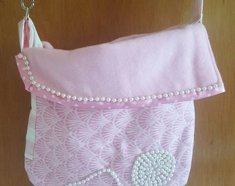 Pink Pearl Swirl small dog sling carrier