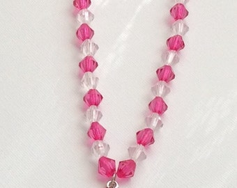 Childrens  Pink Ballerina Beaded Necklace