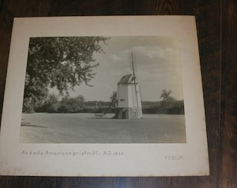 1939 Matted Photograph - American Gristmill