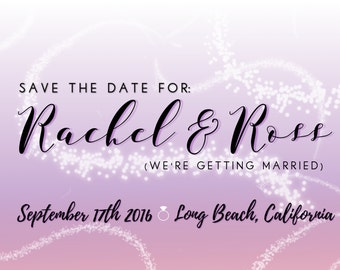 Wedding Save the Date card No. 1 -- PDF download