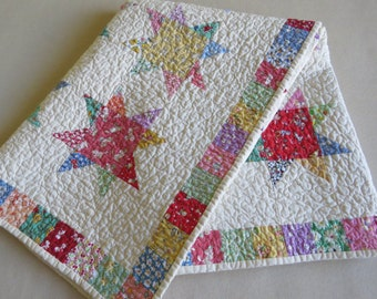 Baby Quilt - Crib Quilt - Vintage Reproduction