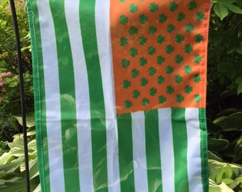 American Irish Garden Flag