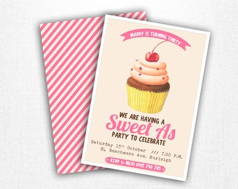Sweet as party invitation