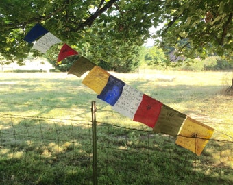 Tibetan Inspired Hebrew Prayer Flags