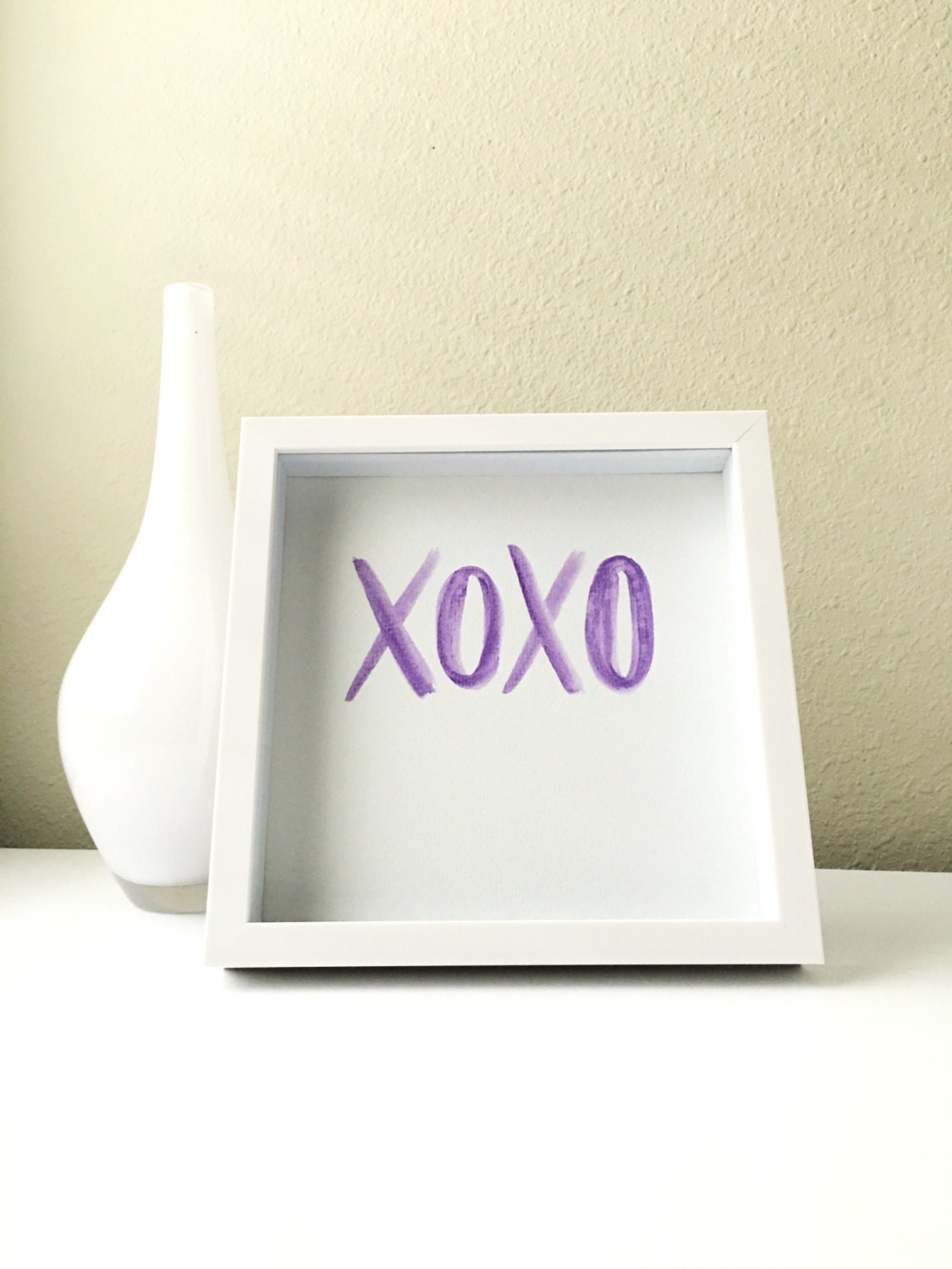 xoxo purple painting girls room decor home by