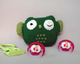 Woolen cuddly toy  OWL - hand knit, BébéNuage