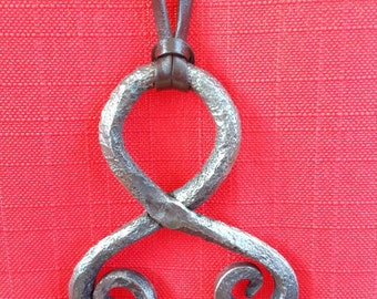 Hand forged, troll cross necklace