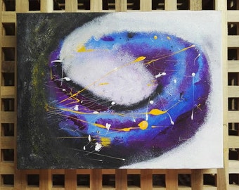 Contemporary Space acrylic painting on box canvas