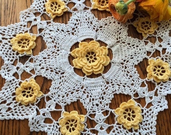 Yellow Flower Doily