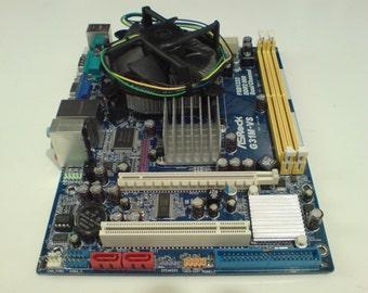 ASRock G31M-VS (LGA775) motherboard bundle with Intel E5200 (Pentium Dual-Core) CPU and Cooler