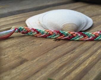 Diagonal Threes Friendship Bracelet - Customized