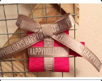 Hot Pink Holiday Package Clippie