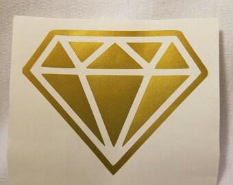 Diamond Vinyl Car Cup Decal
