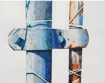 Bolted fence post - print