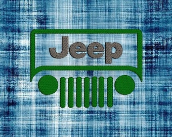 Jeep #1 Machine Embroidery Design 5 Sizes for 4x4 & 5x7 hoop  - Instant Download