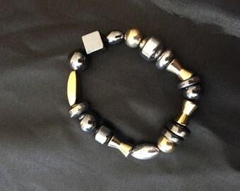 Pewter beaded bracelet