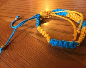 Adjustable Hemp Macrame Bracelet