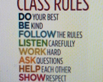 Class rules sign