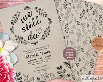 We still do Invite Vow Renewal Template DIY Vow Renewal DIY Vow Renewal Invitation Vows Renewal Printable Wow Renewal Invite vow book 006