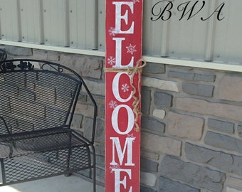 Reversible porch signs, welcome porch sign, Christmas porch sign, Halloween porch sign, porch signs, primitive porch sign