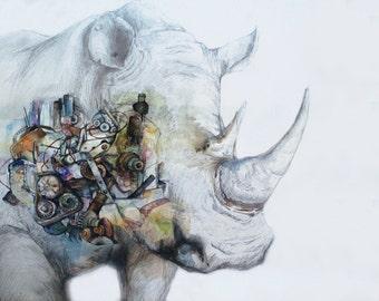 Endangered Species- Rhinoceros