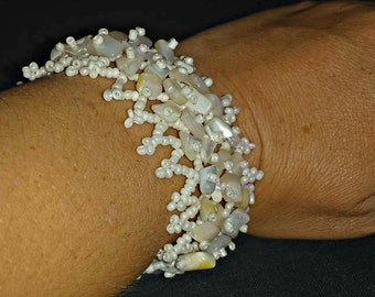 White Seashell Bracelet