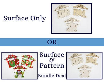 316 Scroll-Top Ornaments - Surface or Pattern Bundle