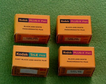 Vintage Kodak 35-mm Film, lot of 4 rolls