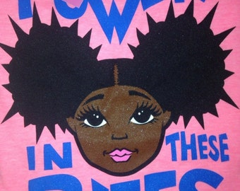 "Pink Natural Hair ""Afro Puff"" Tshirt"
