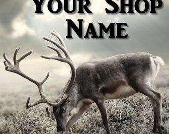 Shop Banner Set, Wildlife Banner, Graphic Design, Shop Banner, Cover Photo, Custom Banner, Premade Banner, Banner Design, Elk Banner Set,
