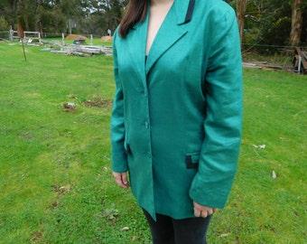 Green retro jacket