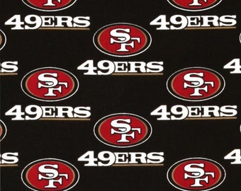 NFL San Francisco 49ers 100%Cotton V2 Fabric by the yard (IST3)
