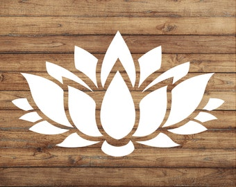 Lotus Flower Decal | Lotus Flower Sticker | Peace Decal | Yoga Decal | Lotus Decal | Car Decal | Yeti Decal | Door Decal