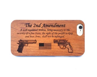Engraved 2nd Amendment iPhone 6 Case