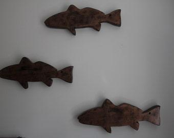 Three Painted Redfish