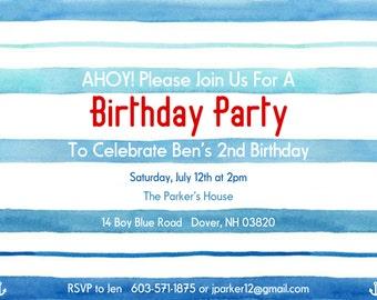Nautical Birthday Invitation
