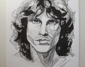 Original Jim Morrison Painting