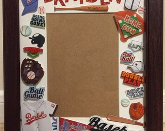 Personalized Baseball Theme Picture Frame