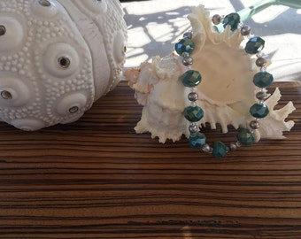 Crystal and Freshwater Pearl Bracelet