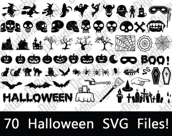 Halloween SVG Collection - Halloween DXF - Halloween Clipart - Witches, Skulls, Pumpkins, & More - Svg Files for Silhouette Cameo or Cricut