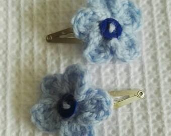 Handmade Crochet Hairclip. Handmade to order. Over 80 colours