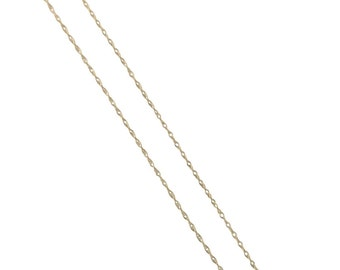 Genuine 10k Yellow Gold Carded Cable Rope Chain .5mm *Excellent for Pendants & Charms!