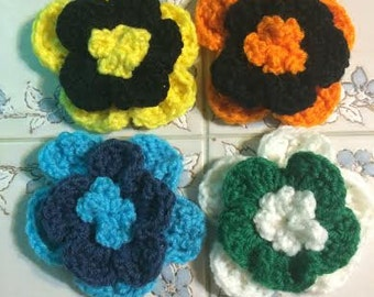 Team Spirit Flower Clips or Headbands