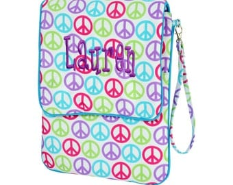 Monogrammed Padded I-Pad Case - Peace