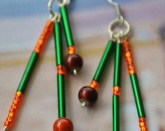 "Earrings ""orange tree"""