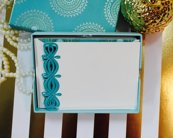 Anna Griffin Turquoise Collection - Correspondence Cards  - 20 Cards Plus Corresponding Lined Envelopes
