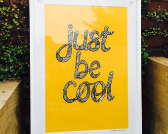 Just Be Cool - Framed Original Pen and Ink Artwork