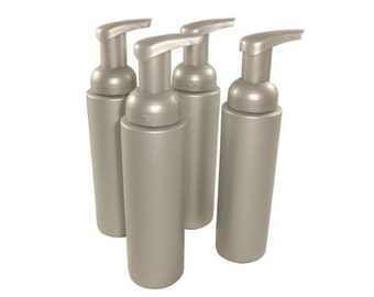 8 oz Silver Foaming Bottles for Liquid Soap
