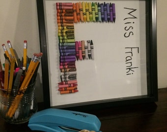 Personalized Crayon Monogram