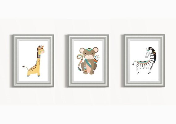 Nursery Wall Decor Set : Nursery wall art set decor